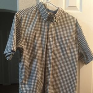 Chaps Easy Care short Sleeve Button Down Shirt L